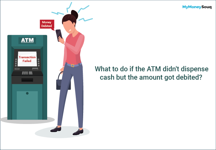 What to do if the ATM didn't dispense cash but the amount got debited
