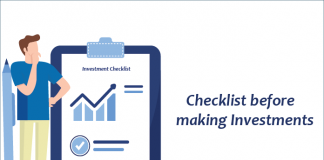 Checklist before making Investments