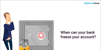 When can your bank freeze your account