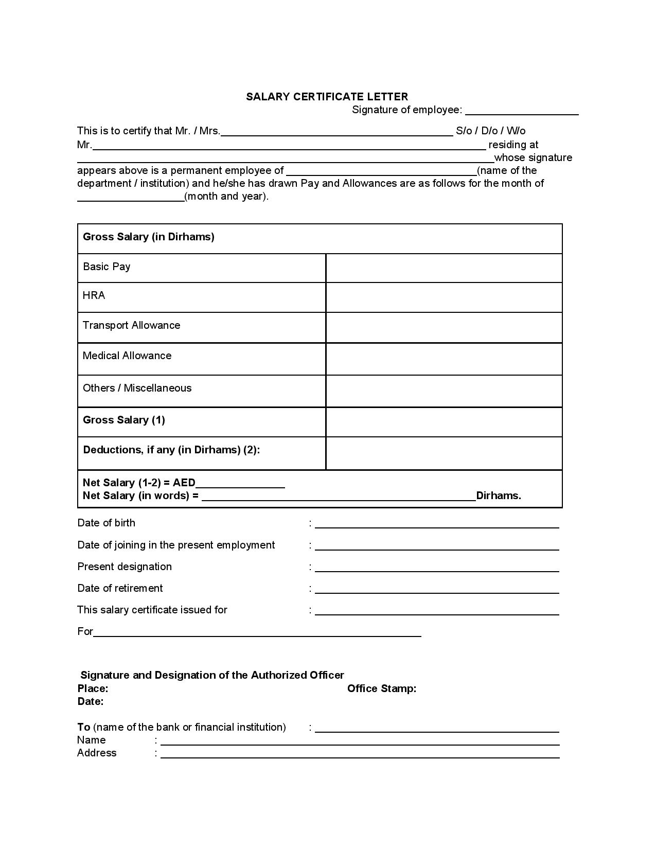 Salary certificate in uae salary certificate letter thecheapjerseys